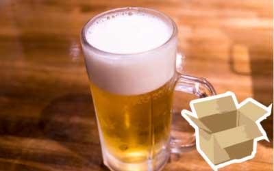 ダンボールA式とビール